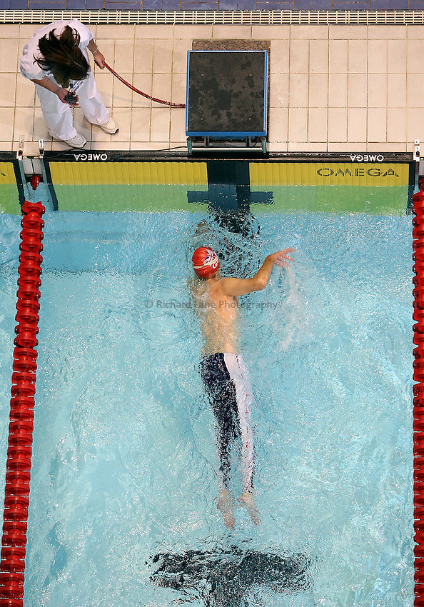 Photo: Paul Thomas..VISA Paralympic World Cup 2007. Swimming. 12/05/2007...Kenny Cairns of Great Britain.