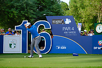 Jon Rahm (ESP) on the 16th tee during the 2nd round of the DP World Tour Championship, Jumeirah Golf Estates, Dubai, United Arab Emirates. 16/11/2018<br /> Picture: Golffile | Fran Caffrey<br /> <br /> <br /> All photo usage must carry mandatory copyright credit (© Golffile | Fran Caffrey)