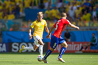 Belo Horizonte, Brazil - June 28, 2014: After a 1-1 draw Brazil beat Chile 3-2 in a penalty shootout to reach the World Cup quarter-finals at Estadio Mineirao.