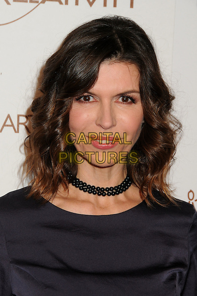 Finola Hughes.5th Annual Art Of Elysium Heaven Gala held at Union Station, Los Angeles, California, USA, 14th January 2012..arrivals portrait headshot choker necklace  navy blue .CAP/ADM/BP.©Byron Purvis/AdMedia/Capital Pictures.