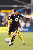 26 JUNE 2010:  Santino Quaranta #25 of DC United  during MLS soccer game between DC United vs Columbus Crew at Crew Stadium in Columbus, Ohio on May 29, 2010. The Crew defeated DC United 2-0.
