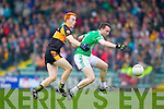 John Buckley Austin Stacks in action against Dan O'Sullivan Saint Kierans in the Quarter Finals of the County Championship at Austin Stack Park on Sunday.