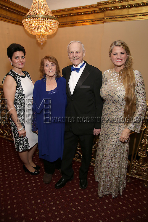 Carol Washer, Virginia Comley, James F. Comley and Bonnie Comley attend the Broadway Opening Night of Sunset Boulevard' at the Palace Theatre Theatre on February 9, 2017 in New York City.