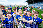Tomás Ó Sé, Eánna Ó Conchúir, Billy Courtney, Killian Spillane, Jeff O'Donoghue, Stephen O'Sullivan and Brian Sugrue Kerry players celebrate their victory over Meath in the All Ireland Junior Football Final at O'Moore Park, Portlaoise on Saturday.