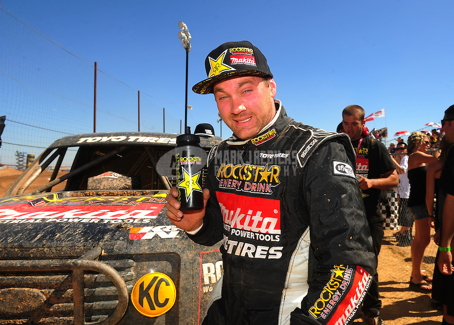 Apr 16, 2011; Surprise, AZ USA; LOORRS driver Kyle Leduc (99) during round 3 at Speedworld Off Road Park. Mandatory Credit: Mark J. Rebilas-.