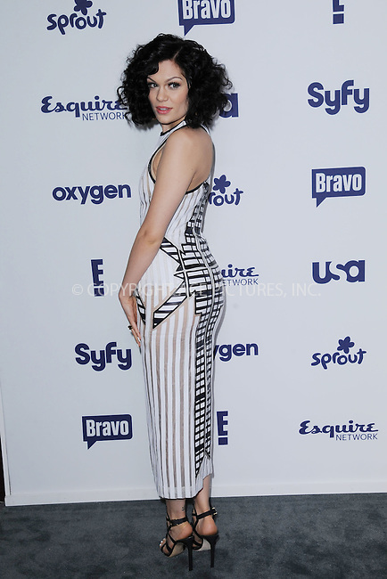 WWW.ACEPIXS.COM<br /> May 15, 2014 New York City<br /> <br /> Jessie J attending NBCUniversal Cable Entertainment Upfront at the Javits Center in New York City on Thursday, May 15, 2014.<br /> <br /> Please byline: Kristin Callahan/ACE Pictures<br /> <br /> ACEPIXS.COM<br /> <br /> Tel: (212) 243 8787 or (646) 769 0430<br /> e-mail: info@acepixs.com<br /> web: http://www.acepixs.com