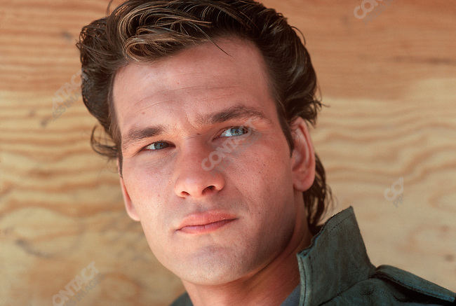 "Patrick Swayze, actor, on the set of ""The Outsiders"", directed by Francis Ford Coppola. Tulsa, Oklahoma, March 1982."