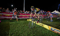 Sven Nys (BEL/Crelan-AADrinks) jumps the barriers<br /> <br /> Cross Vegas 2014