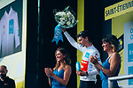 Giulio Ciccone (ITA) Trek-Segafredo retains the young riders White Jersey at the end of Stage 8 of the 2019 Tour de France running 200km from Macon to Saint-Etienne, France. 13th July 2019.<br /> Picture: ASO/Thomas Maheux | Cyclefile<br /> All photos usage must carry mandatory copyright credit (© Cyclefile | ASO/Thomas Maheux)