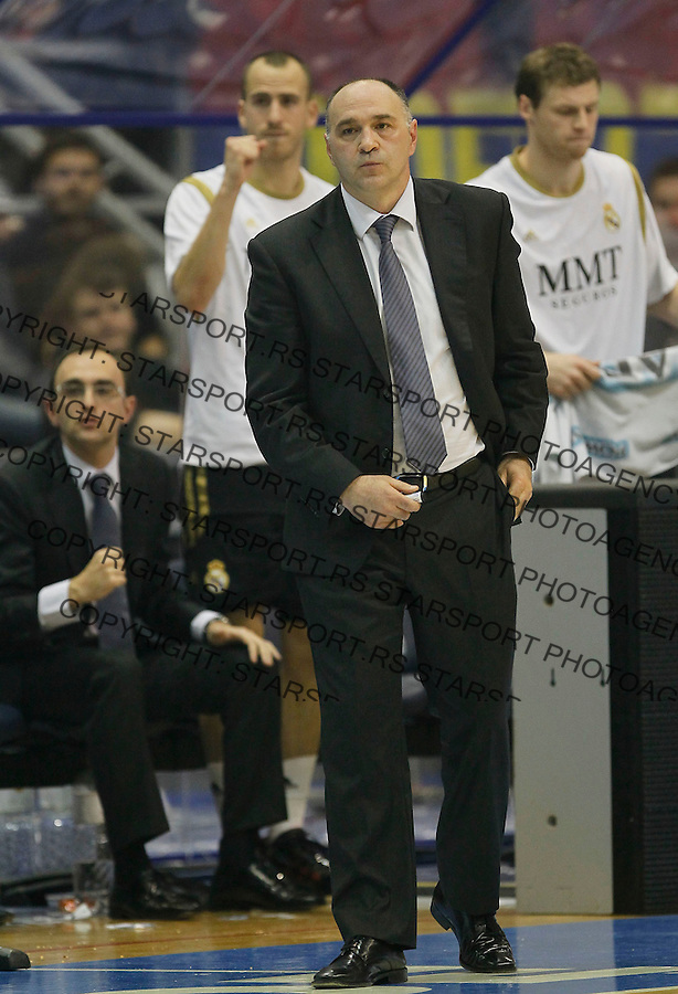 Kosarka, Euroleague, sezona 2011/2012.Partizan Vs. Real Madrid.Head coach Pablo Laso.Belgrade, 10.11.2011..foto: Srdjan Stevanovic/Starsportphoto ©