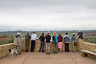 June 10, 2015; Gary Belovsky, director of UNDERC-West and students take in the view at Theodore Roosevelt National Park in North Dakota. (Photo by Barbara Johnston/University of Notre Dame)