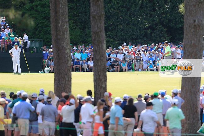 John Rahm (ESP) during the 1st round at the The Masters , Augusta National, Augusta, Georgia, USA. 11/04/2019.<br /> Picture Fran Caffrey / Golffile.ie<br /> <br /> All photo usage must carry mandatory copyright credit (© Golffile | Fran Caffrey)