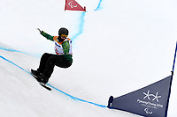 Day 7 / Snowboard banked SL. / SEAN POLLARD (AUS)<br /> PyeongChang 2018 Paralympic Games<br /> Australian Paralympic Committee<br /> PyeongChang South Korea<br /> Friday March 16th 2018<br /> &copy; Sport the library / Jeff Crow