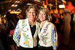 Co-chairs Shary Heins and Nancy Ebanks at the Cattle Baron's Ball at the George Ranch Saturday April 24,2010.. (Dave Rossman Photo)
