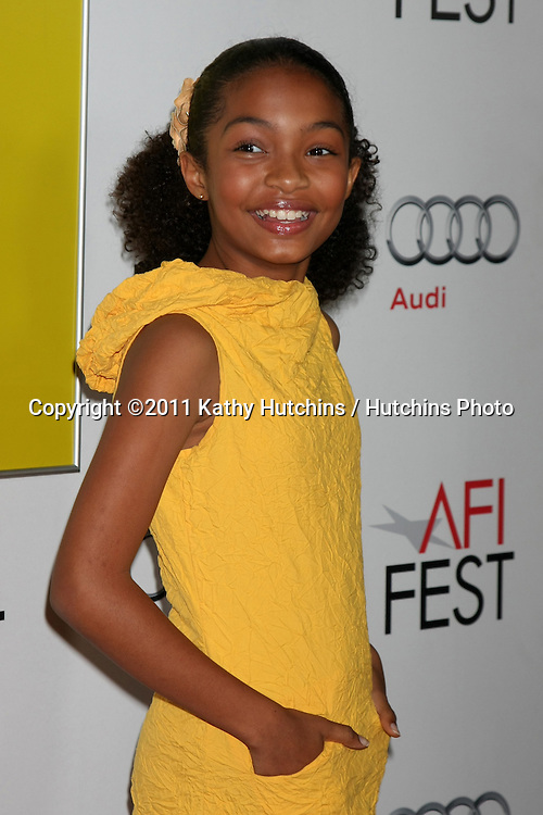"""LOS ANGELES - NOV 6:  Yara Shahidi arrives at the """"Butter"""" Screening at the AFI Fest 2011 at Grauman's Chinese Theater on November 6, 2011 in Los Angeles, CA"""