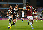 Joelinton of Newcastle United has his shirt pulled by Tyrone Mings of Aston Villa in the penalty areaduring the Premier League match at Villa Park, Birmingham. Picture date: 25th November 2019. Picture credit should read: Darren Staples/Sportimage