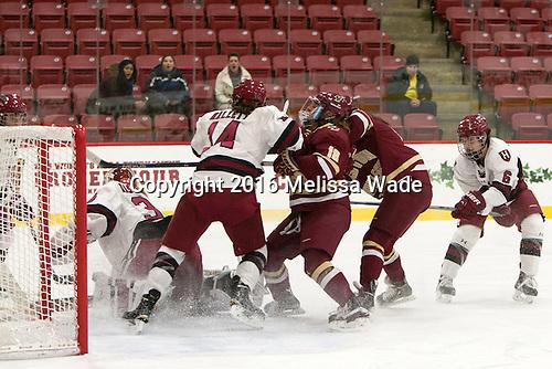 Emerance Maschmeyer (Harvard - 38), Kate Hallett (Harvard - 14), Toni Ann Miano (BC - 18), Nikki Friesen (Harvard - 6) - The visiting Boston College Eagles defeated the Harvard University Crimson 2-0 on Tuesday, January 19, 2016, at Bright-Landry Hockey Center in Boston, Massachusetts.