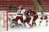 Emerance Maschmeyer (Harvard - 38), Kate Hallett (Harvard - 14), Toni Ann Miano (BC - 18), Nikki Friesen (Harvard - 6) - The visiting Boston College Eagles defeated the Harvard University Crimson 2-0 on Tuesday, January 19, 2016, at Bright-Landry Hockey Center in Boston, Massachusetts.
