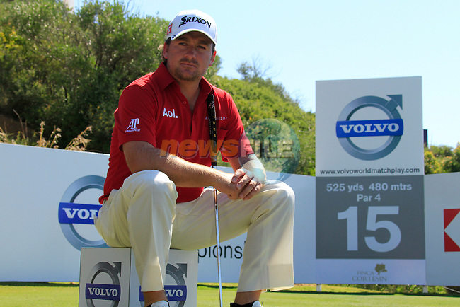 Graeme McDowell (N.IRL) waits to tee off on the 15th tee during the morning session on Day 3 of the Volvo World Match Play Championship in Finca Cortesin, Casares, Spain, 21st May 2011. (Photo Eoin Clarke/Golffile 2011)