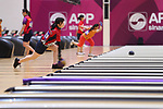 Mirai Ishimoto (JPN), <br /> AUGUST 27, 2018 - Bowling : <br /> Women's€Masters Block2 <br /> at Jakabaring Sport Center Bowling Center <br /> during the 2018 Jakarta Palembang Asian Games <br /> in Palembang, Indonesia. <br /> (Photo by Yohei Osada/AFLO SPORT)