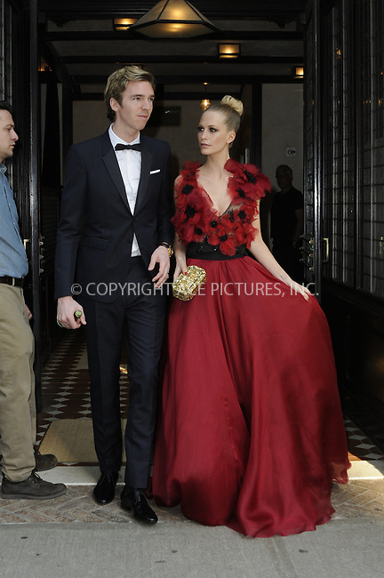 WWW.ACEPIXS.COM<br /> <br /> May 4 2015, New York City<br /> <br /> Model Poppy Delevingne (R) and husband James Cook leave a downtown hotel on their way to the Met Gala on May 4 2015 in New York City.<br /> <br /> <br /> Please byline: Curtis Means/ACE Pictures<br /> <br /> ACE Pictures, Inc.<br /> www.acepixs.com, Email: info@acepixs.com<br /> Tel: 646 769 0430
