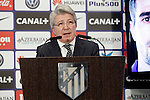 Atletico de Madrid's President Enrique Cerezo. January 9, 2015. (ALTERPHOTOS/Acero)