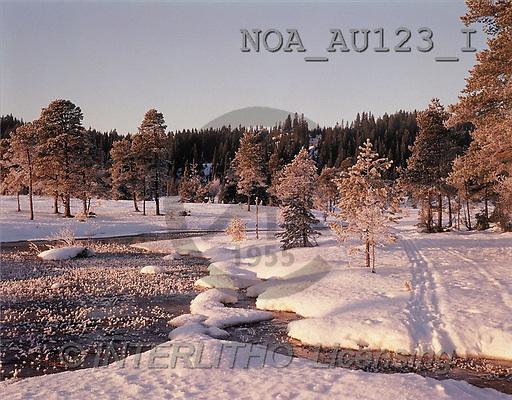 CHRISTMAS LANDSCAPE, photos(NOAAU123/I,#XL#) Landschaften, Weihnachten, paisajes, Navidad