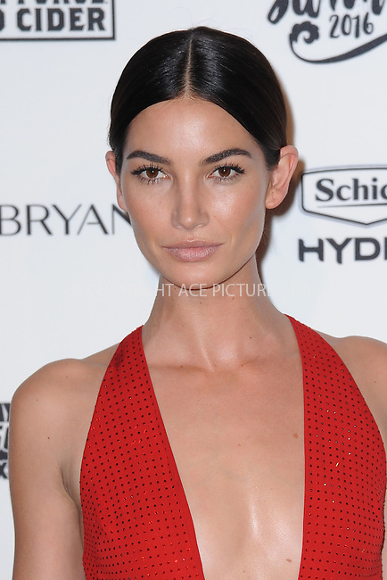 WWW.ACEPIXS.COM<br /> February 16, 2016 New York City<br /> <br /> Lily Aldridge attending the 2016 Sports Illustrated Swimsuit Launch Celebration at Brookfield Place on February 16, 2016 in New York City.<br /> <br /> Credit: Kristin Callahan/ACE Pictures<br /> Tel: (646) 769 0430<br /> e-mail: info@acepixs.com<br /> web: http://www.acepixs.com
