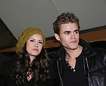 "Vampire Diaries stars Nina Dobrev and Paul Wesley (Wasilewski) ""Max"" GL on January 30, 2010 during the Hot Topic Tour at the Westfield Garden State Plaza, Paramus, New Jersey where they signed autographs and held a Q & A session for a huge number of fans. (Photo by Sue Coflin/Max Photos)"