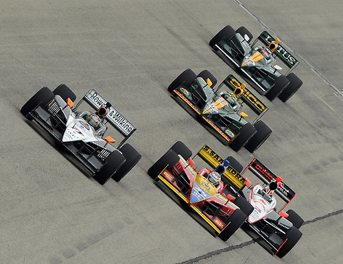17-19 June 2011, West Allis, Wisconsin USA<br /> #77 Alex Tagliani with Saavedra, Castroneves, Kanaan and Sato.<br /> ©2011 Dan R. Boyd Lat Photo USA