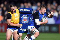 Tom Ellis of Bath Rugby in action during the pre-match warm-up. Gallagher Premiership match, between Exeter Chiefs and Bath Rugby on March 24, 2019 at Sandy Park in Exeter, England. Photo by: Patrick Khachfe / Onside Images