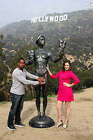 LOS ANGELES - JAN 20:  Jason George, Screen Actor's Guild Actor, Julie Lake at the AG Awards Actor Visits The Hollywood Sign at a Hollywood Hills on January 20, 2015 in Los Angeles, CA