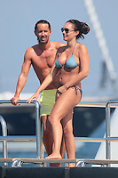 Tamara Ecclestone and new husband Jay Ruttland on honeymoon in Saint-Tropez - France