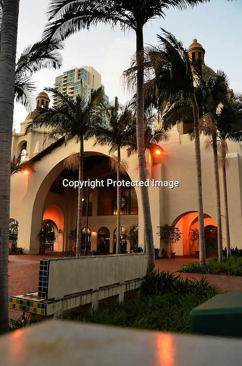 Stock photo of San Diego Train Station