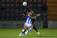 Sammie Szmodics of Colchester United  and Bevis Mugabi of Yeovil Town during Colchester United vs Yeovil Town, Sky Bet EFL League 2 Football at the JobServe Community Stadium on 2nd October 2018