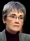 """United States Secretary of the Air Force Heather Wilson testifies before the US Senate Committee on Armed Services during a hearing on """"Chain of Command's Accountability to Provide Safe Military Housing and Other Building Infrastructure to Service members and Their Families"""" on Capitol Hill in Washington, DC on Thursday, March 7, 2019.<br /> Credit: Ron Sachs / CNP"""