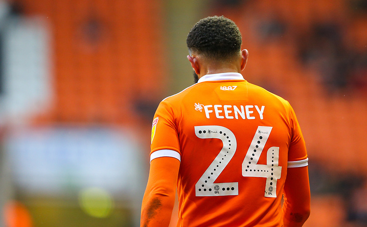 Blackpool's Liam Feeney<br /> <br /> Photographer Alex Dodd/CameraSport<br /> <br /> The EFL Sky Bet League One - Blackpool v Shrewsbury Town - Saturday 19 January 2019 - Bloomfield Road - Blackpool<br /> <br /> World Copyright &copy; 2019 CameraSport. All rights reserved. 43 Linden Ave. Countesthorpe. Leicester. England. LE8 5PG - Tel: +44 (0) 116 277 4147 - admin@camerasport.com - www.camerasport.com