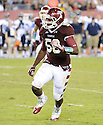 Temple Owls Olaniyi Adewole (56) in action during a game against the Villanova Wildcats on August 31, 2012 at Lincoln Financial Field in Philadelphia, PA. Temple beat Villanova 41-10.