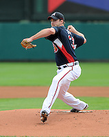 15 March 2009: RHP Derek Lowe (32) of the Atlanta Braves throws in a game against the Houston Astros at the Braves' Spring Training camp at Disney's Wide World of Sports in Lake Buena Vista, Fla. Photo by:  Tom Priddy/Four Seam Images