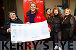 On Monday evening Noreen Lynch who presented a cheque of €1,665.80 to Ann Riordan of Irish Heart Foundation in The Manor West Hotel,Tralee Front : Noreen Lynch and Ann Riordan. Back l-r: Marie Lynch,Hannah Ludgeete and Norma Lynch