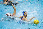 INDIANAPOLIS, IN - MAY 14: Maddie Musselman (7) of UCLA reaches for the ball during the Division I Women's Water Polo Championship held at the IU Natatorium-IUPUI Campus on May 14, 2017 in Indianapolis, Indiana. Stanford edges UCLA, 8-7, to win fifth women's water polo title in the past seven years. (Photo by Joe Robbins/NCAA Photos/NCAA Photos via Getty Images)