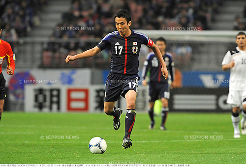 Makoto Hasebe (JPN),.FEBRUARY 29, 2012 - Football / Soccer :.2014 FIFA World Cup Asian Qualifiers Third round Group C match between Japan 0-1 Uzbekistan at Toyota Stadium in Aichi, Japan. (Photo by Takamoto Tokuhara/AFLO)