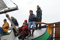 SKUTSJESILEN: LANGWEER: Langwarder Wielen, 13-04-2013, Skûtsjesilen Langwar, ©foto Martin de Jong
