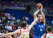 7th September 2017, Fenerbahce Arena, Istanbul, Turkey; FIBA Eurobasket Group D; Russia versus Great Britain; Power Forward Dan Clark #10 of Great Britain shoots for three points during the match