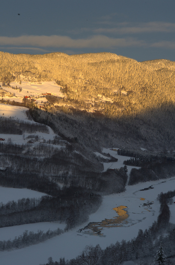 Winter by Gaula river,Norway Home decor,   Trond Are Berge Landscape, landskap,