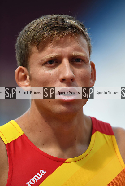 Pau TONNESEN (ESP) in the mens decathlon shot put. IAAF world athletics championships. London Olympic stadium. Queen Elizabeth Olympic park. Stratford. London. UK. 11/08/2017. ~ MANDATORY CREDIT Garry Bowden/SIPPA - NO UNAUTHORISED USE - +44 7837 394578
