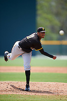 Pittsburgh Pirates Yeudy Garcia (60) during a minor league Spring Training game against the New York Yankees on March 26, 2016 at Pirate City in Bradenton, Florida.  (Mike Janes/Four Seam Images)