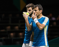 ABN AMRO World Tennis Tournament, Rotterdam, The Netherlands, 18 Februari, 2017, Ivan Dodig (CRO), Marcel Granollers (ESP)<br /> Photo: Henk Koster