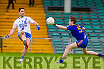 Bryan Sheehan Saint Marys in action against Brian O'Connor Ratoath in the Semi Final of the Intermediate Club Championship at the Gaelic Grounds in Limerick on Sunday.