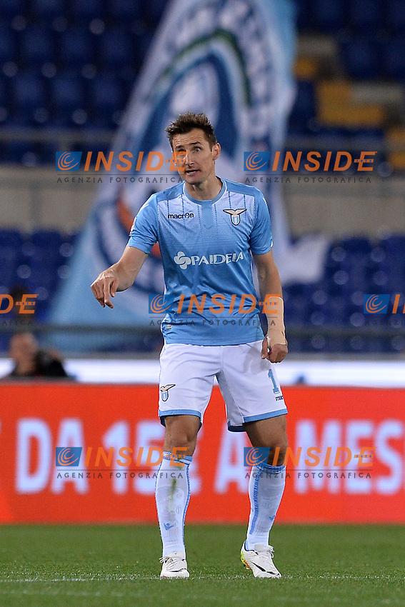 Miroslav Klose Lazio.<br /> Roma 1-05-2016  Stadio Olimpico<br /> Campionato Serie A,<br /> Lazio - Inter.<br /> Foto Antonietta Baldassarre / Insidefoto